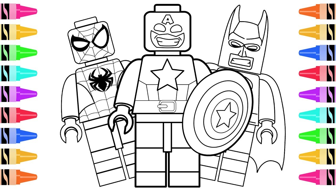 Learn How To Draw Falcon From Captain America Civil War: How To Draw LEGO Superheroes Captain America
