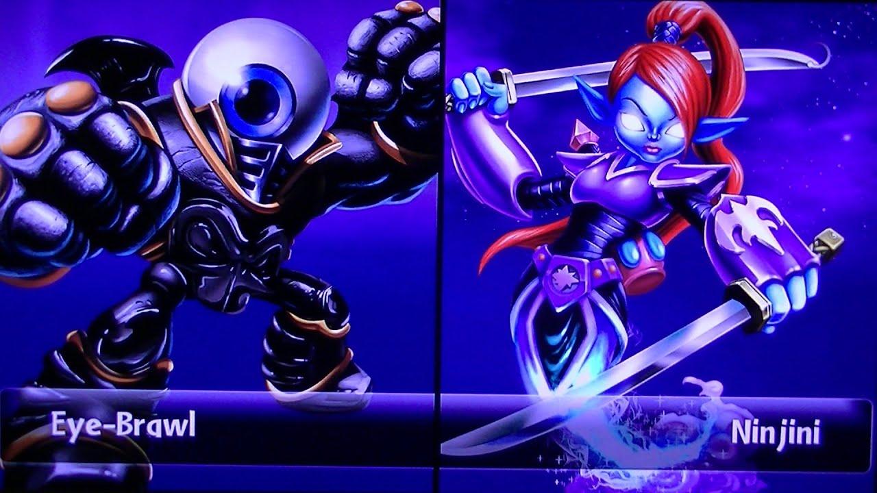 Skylanders giants eye brawl vs ninjini youtube - Coloriage skylanders giants eye brawl ...