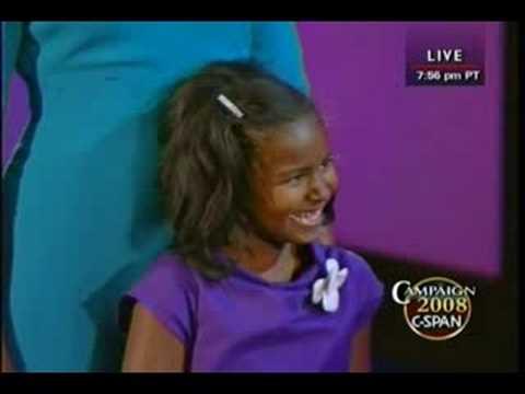 Sasha Obama - A Great American Moment!