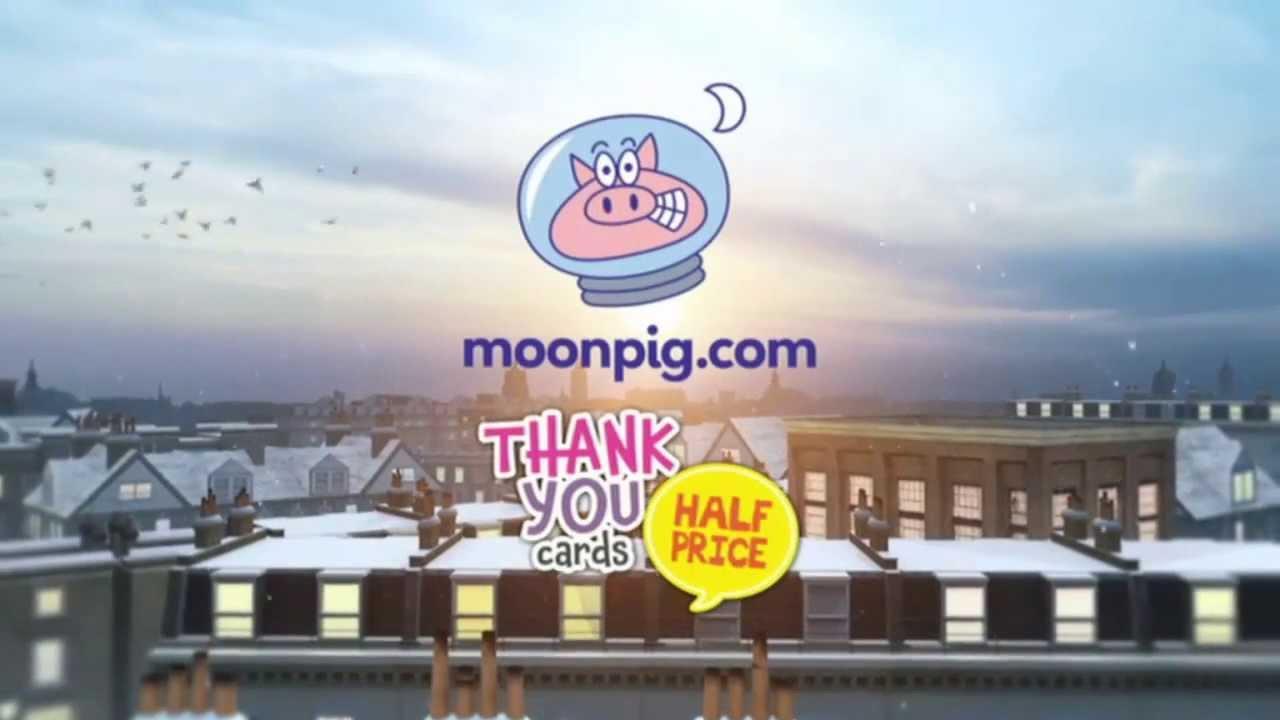 Moonpig Thankyou Cards 4 TV Advert