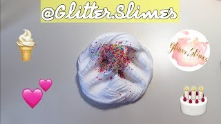 HOW TO MAKE ICE CREAM CAKE BATTER SLIME BY @GLITTER.SLIMES!!