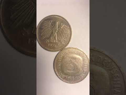 Another Germany  5 Deutsche Mark coin before Euro