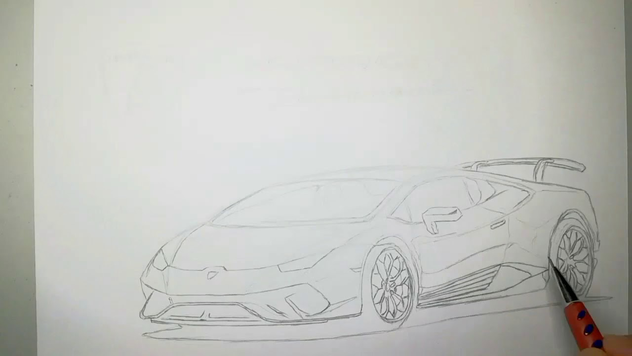 Lamborghini Huracan Performante Pointillism Drawing By Yusuf Mulla