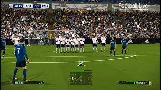 Video PES 2018 | Tottenham vs Real Madrid | Ronaldo Free Kick Goal | UEFA Champions League (UCL) download MP3, 3GP, MP4, WEBM, AVI, FLV September 2018