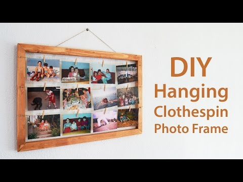 Hanging Clothespin Photo Frame