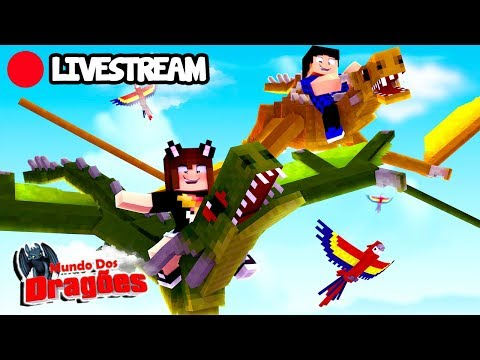 [Live] É HORA DE VOAR! - Minecraft Mundo dos Dragões #16 #LiveMarmota