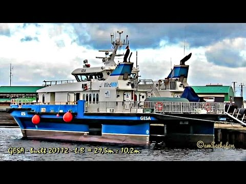 high speed craft GESA 5BTF3 IMO 9652026 Emden offshore crew boat seaship