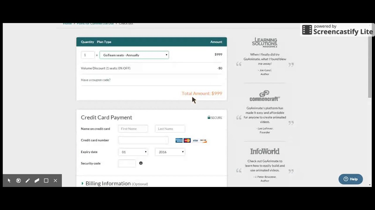 An Update On The Plans Pricing Page On Goanimate Youtube