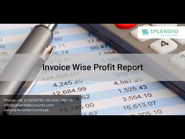 Invoice Wise Profit Report    Splendid Accounts