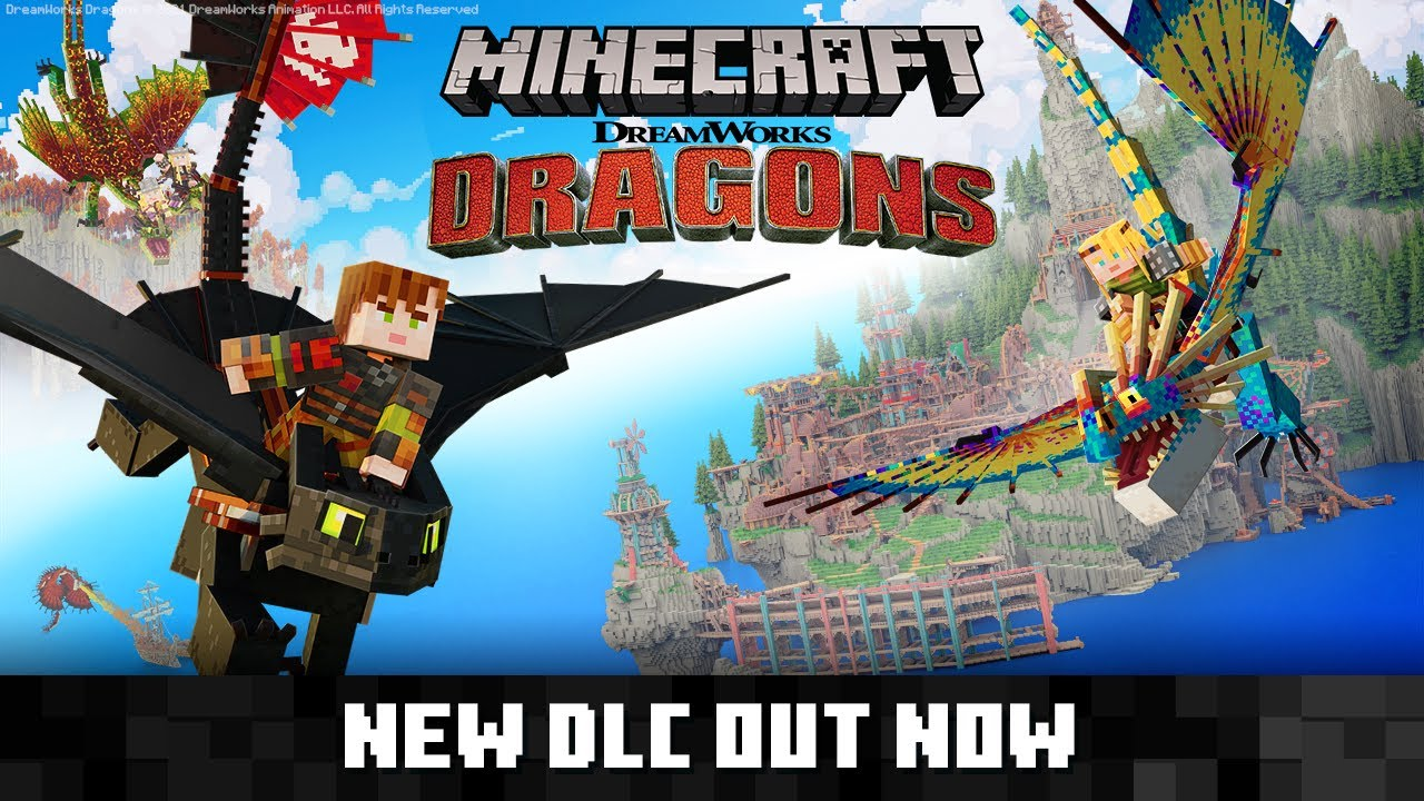 Minecraft Dreamworks How to Train Your Dragon DLC : Official Trailer