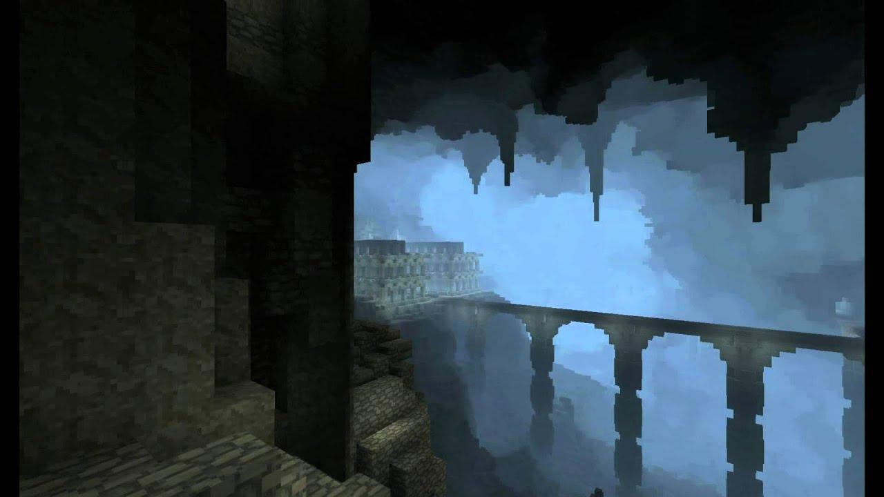 minecraft middle earth moria showcase youtube