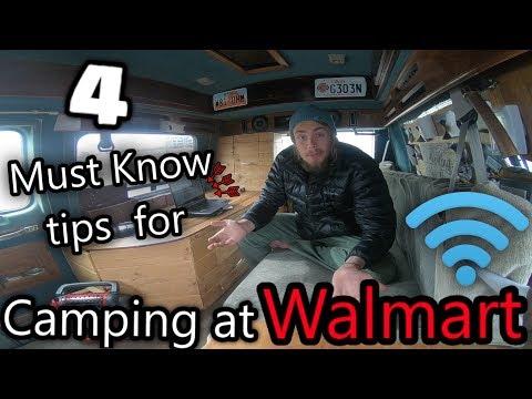 Tips and Tricks for Camping/Sleeping at Walmart