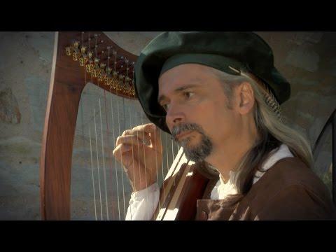 Lied des Barden auf der keltischen Harfe