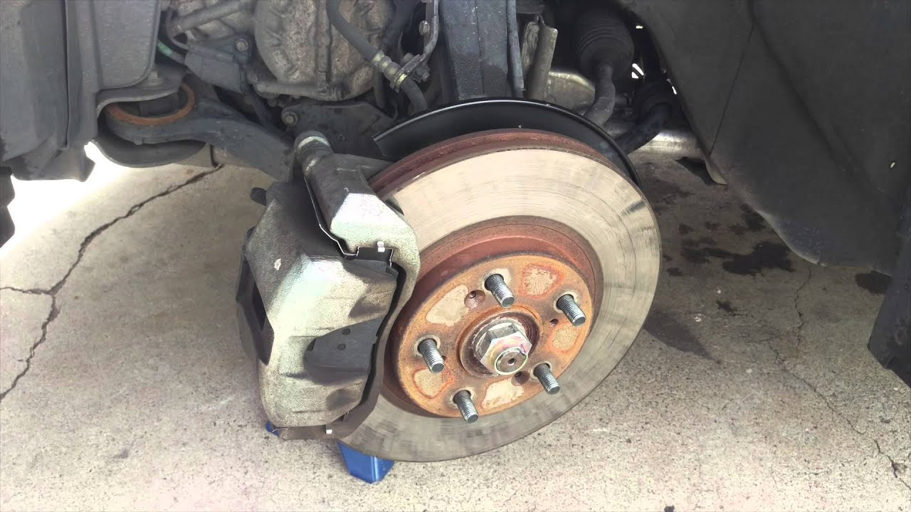 How To Change Front Brake Pads On A Acura TL YouTube - Acura tl brake pads