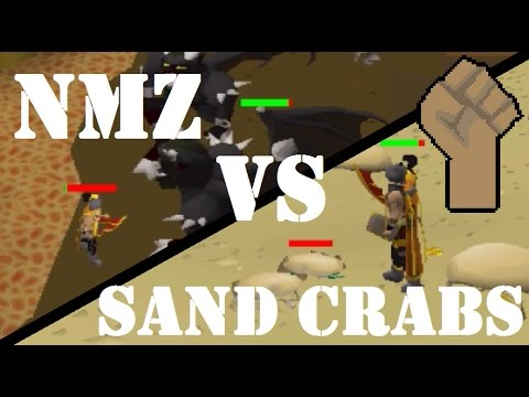 Which is Best Strength XP for Pures with No Overheads? - NMZ vs Sand Crabs OSRS