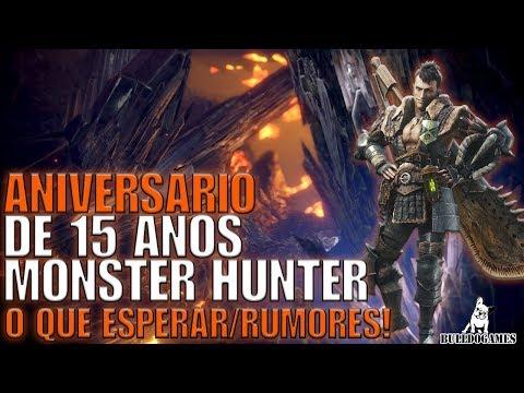 Monster Hunter World - ANIVERSÁRIO DE 15 ANOS, GRANDE ANÚNCIO - RUMORES! thumbnail