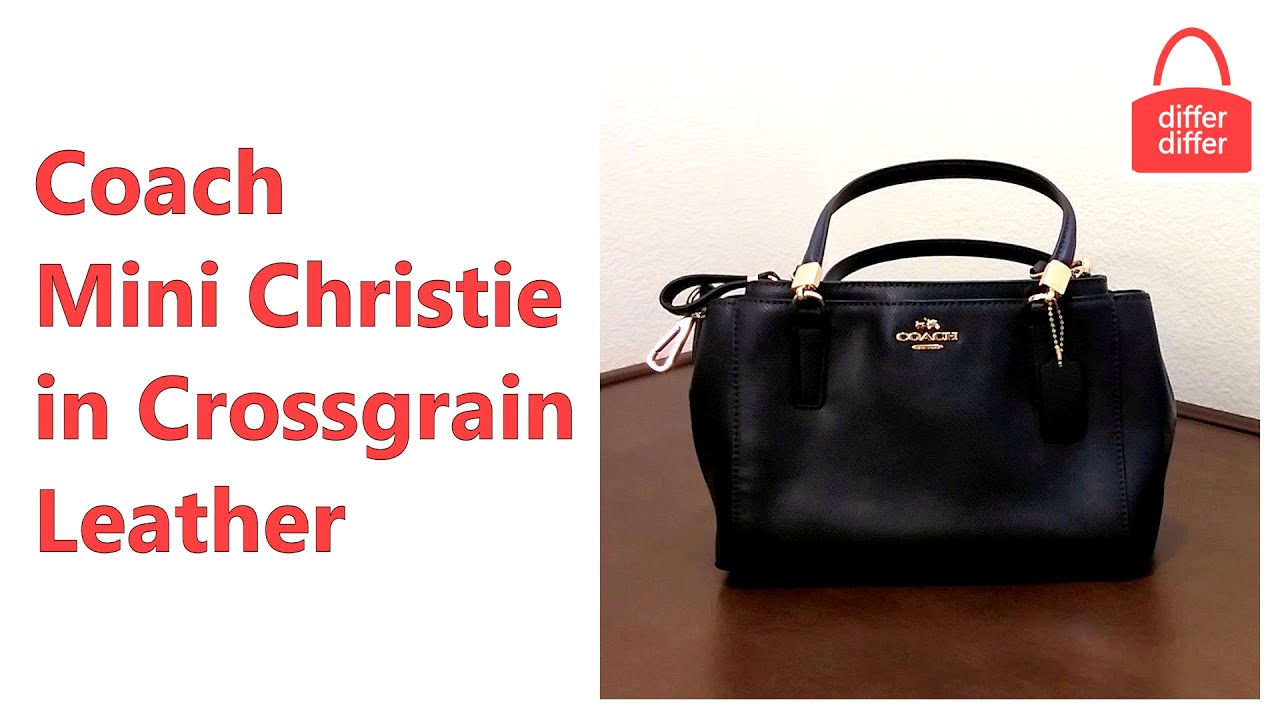 coach pink and gray purse fyuo  Coach Mini Christie Crossbody in Crossgrain Leather 34797