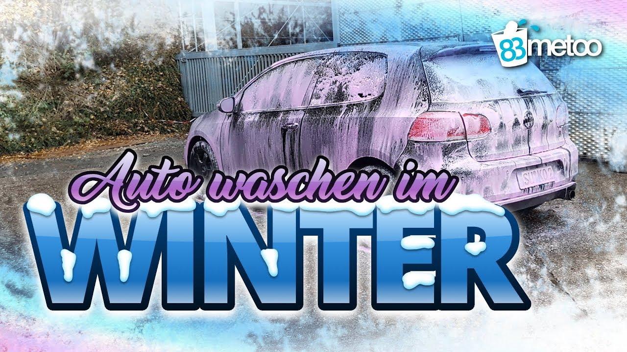 Auto Waschen Im Winter Autowasche In Der Sb Waschbox Bei Frost Und