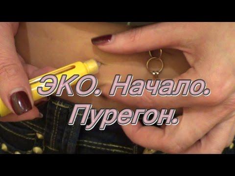 Как колоть уколы в живот при эко видео