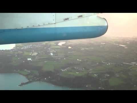 G-JECP Guernsey to Jersey - full flight 17 Dec 2012 seat12A Flybe Q400