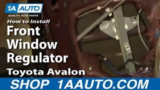 How To Install Replace Front Window Regulator Toyota Avalon 95-99 1AAuto.com