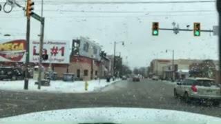 Road conditions in Allentown METRO snow storm