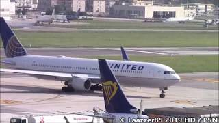 United Airlines B767-322ER / Inaugural First Flight at Naples Capodichino / HD