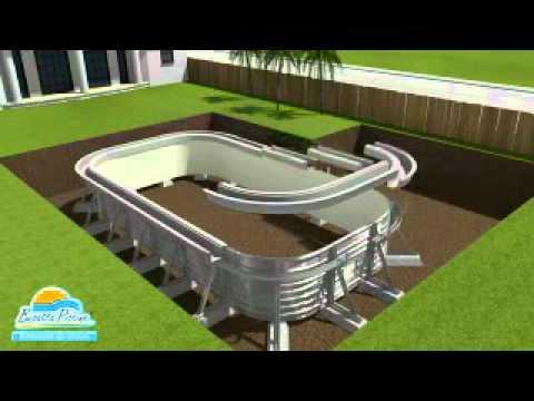 Montaggio piscina frame rettangolare bestway doovi for Riparare piscina