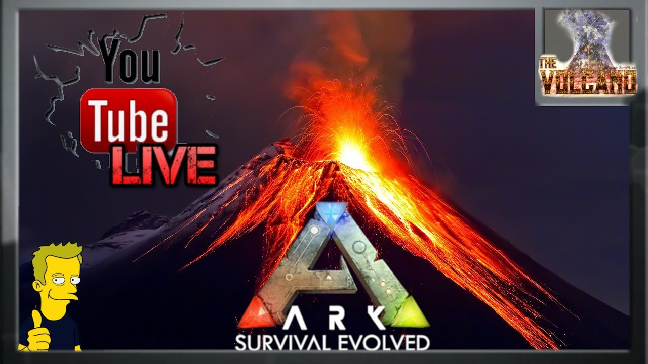 CASTLE ON THE HILL - ARK: Survival THE VOLCANO LIVE !! - PlayKindle org