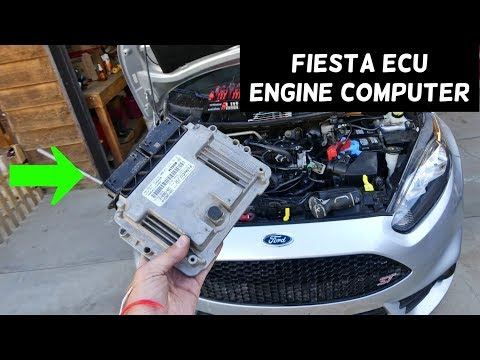 HOW TO REMOVE OR REPLACE ENGINE COMPUTER ECU ECM ON FORD FIESTA MK7 ST