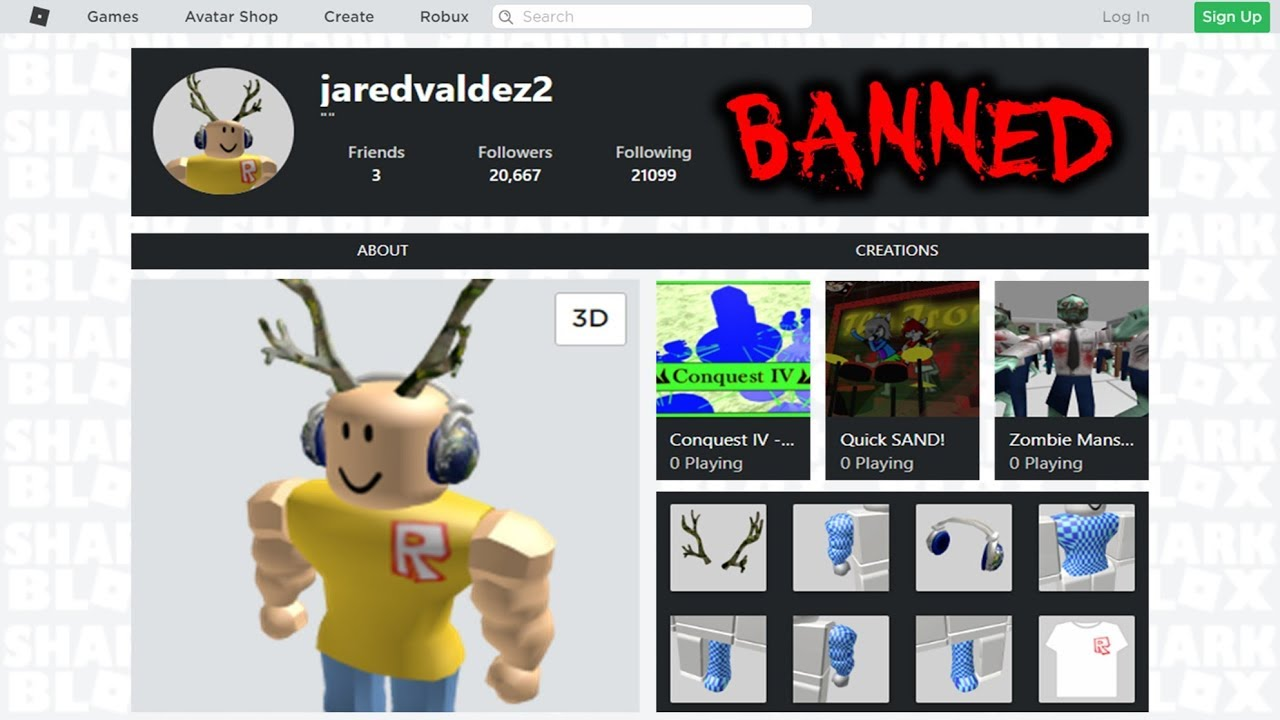 How To View Banned Players Roblox Accounts YouTube