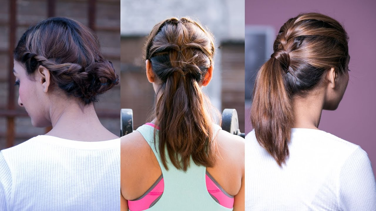 3 Quick & Easy Stylish Workout Hairstyles - Hairstyles For Girls ...