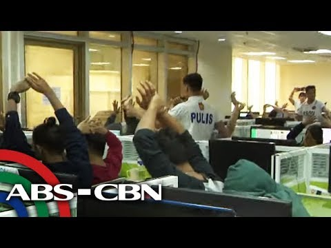 Opisina ng online lending app na nanghihiya sinalakay; 54 timbog | TV Patrol