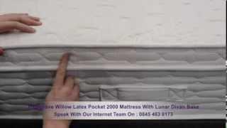 Highgrove Willow Latex Pocket 2000 Mattress With Lunar Divan Base