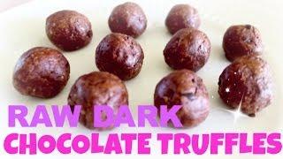[healthy Recipe] Raw Dark Chocolate Truffles