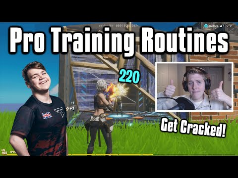 Copying The Training Routines Of Pro Players! - Fortnite Battle Royale