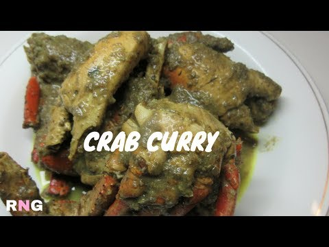 Guyana, Caribbean Crab Curry with Coconut Milk and Eddoes Video Recipe (HD)