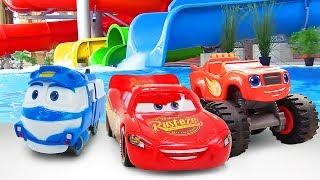 Фото Машинки ваквапарке— Молния Маквин Вспыш иРоботы-поезда— Видео для детей серии подряд