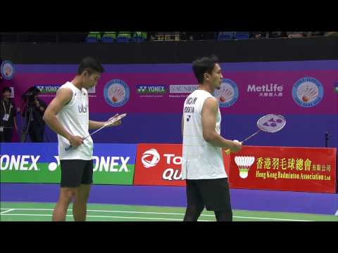 Yonex Sunrise Hong Kong Open 2016 | Badminton SF M5-MD | Ahs/Sap vs Boe/Mog