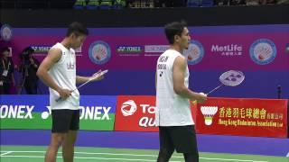 Yonex Sunrise Hong Kong Open 2016 | Badminton SF M5-MD | Ahs/Sap vs Boe/Mog