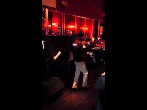 Old Skool Cafe trumpeter performance