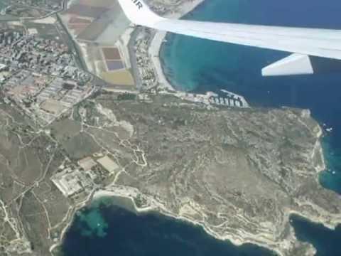 Take off Cagliari Airport Ryanair 4831 - YouTube