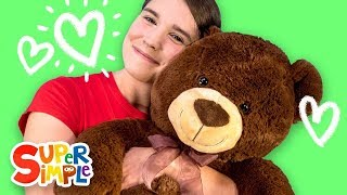 Caitie's Classroom Live - My Teddy Bear, One Little Finger & Head Shoulders Knees & Toes!