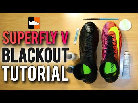 BlackOut Superfly V - How To Black Out Boots & Cleats Tutorial