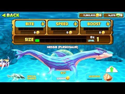 NEW PLESIOSAUR LOCH NESS MONSTER NESSIE UNLOCKED!!! (HUNGRY SHARK EVOLUTION)