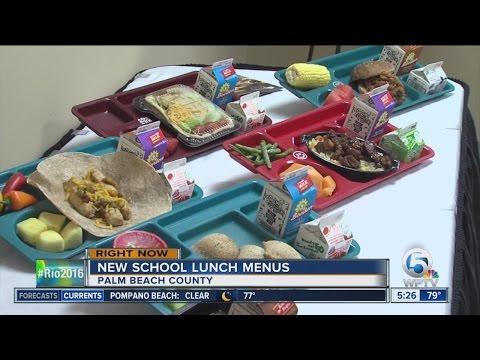 Palm Beach County unveils new school lunch menus