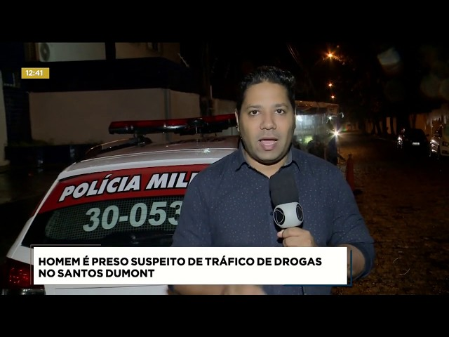 Homem foi preso suspeito de tráfico de drogas no Santos Dumont