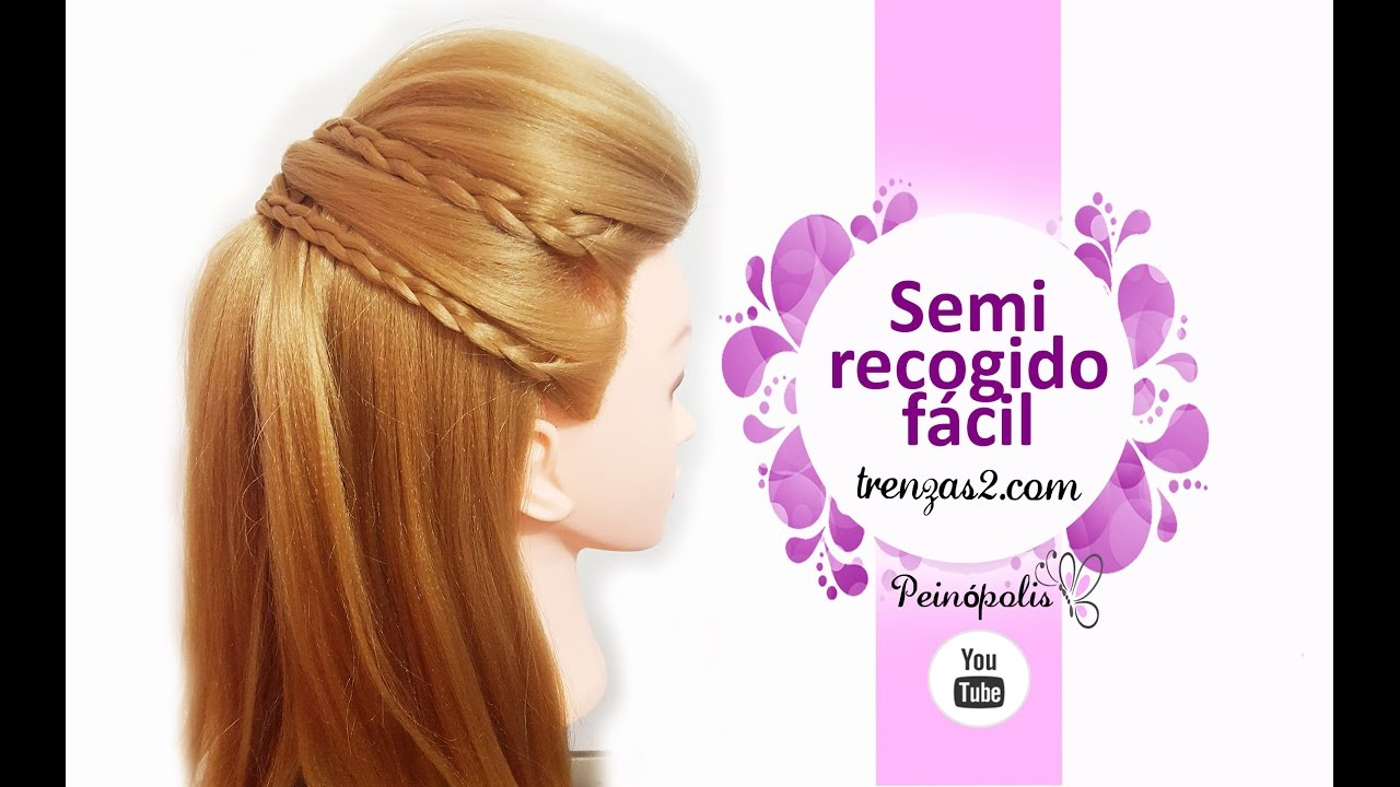 Peinados faciles y rapidos con semirecogidos con trenzas - Fotos peinados de moda ...