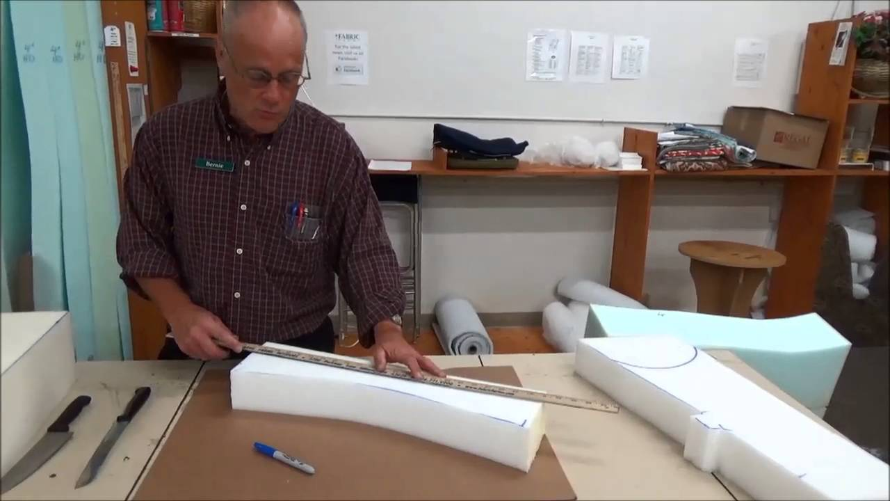 Upholstery Basics How To Cut Foam With A Bread Knife Youtube