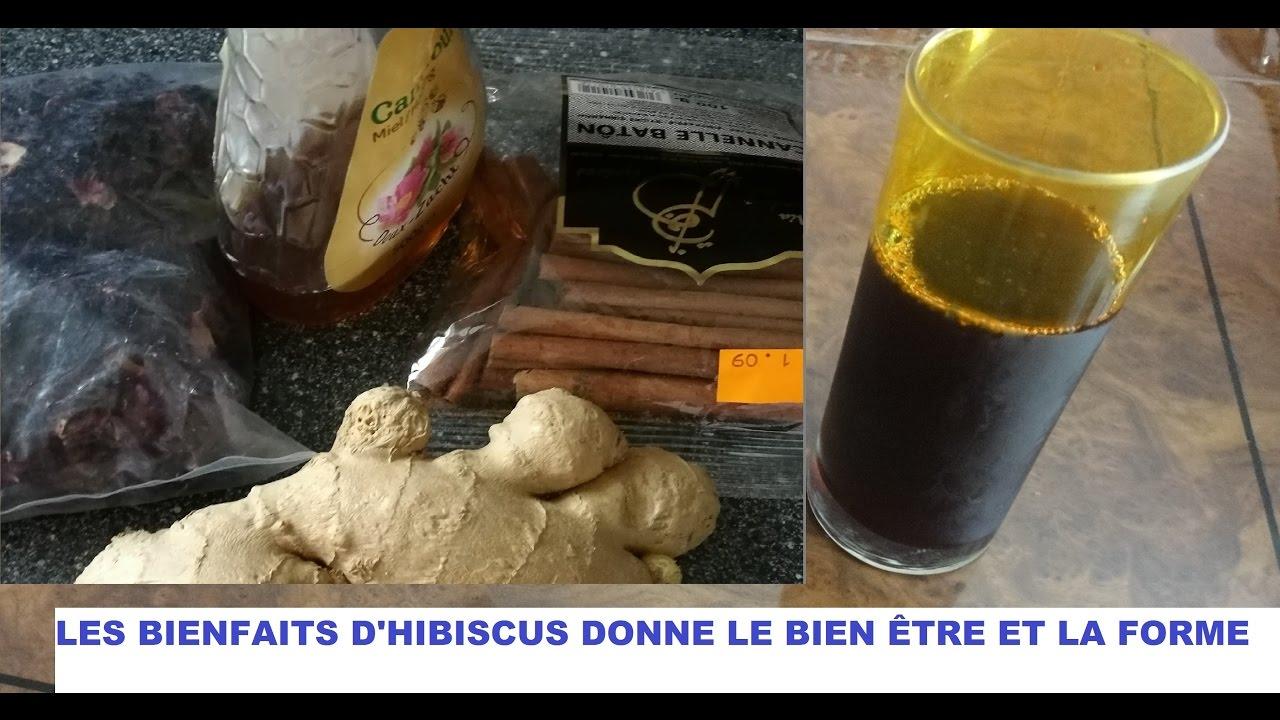 LES BIENFAITS D' HIBISCUS DONNE LE BIEN-ÊTRE ET LA FORME 2 ASTUCES